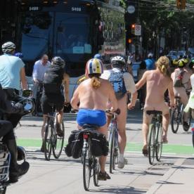 nude bike rally (Vancouver, Canada)