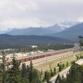 long trains in Canada (Jasper, Canada)