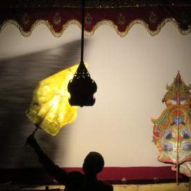 Wayang puppet theatre (Jakarta, Indonesia)