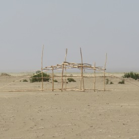 fundaments of a house of a nomad family (Danakil Desert, Ethiopia)