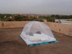 sleeping on the roof (Bamako, Mali)
