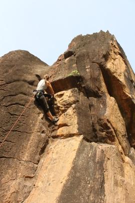 discovering climbing (Siby, Mali)